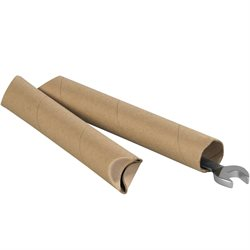 "1 1/2 x 24"" Kraft Crimped End Tubes"