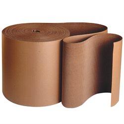 "36"" x 250' - 'B' Flute Kraft Singleface Corrugated Roll"
