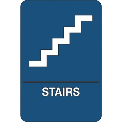 """""""Stairs"""" ADA Compliant Plastic Sign"""