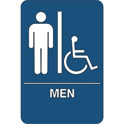 """Men/Accessible"" ADA Compliant Plastic Sign"