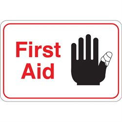"""First Aid"" 6 x 9"" Facility Sign"