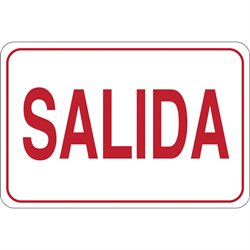 """SALIDA"" 7 x 10"" Facility Sign"