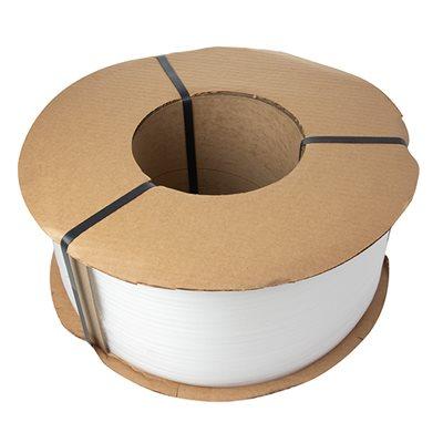 """Polypropylene Strap 3/8"""" .021 Clear 8x8 Core 250# 12,900'"""