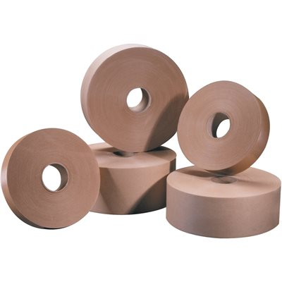 """1"""" x 500' Kraft Tape Logic® #5000 Non Reinforced Water Activated Tape"""