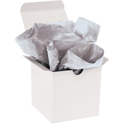 "20 x 30"" Metallic Silver Gift Grade Tissue Paper"