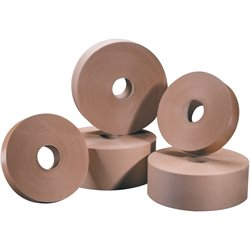 "3"" x 600' Kraft Tape Logic® #6000 Non Reinforced Water Activated Tape"
