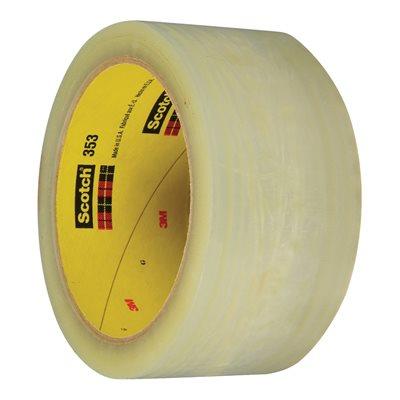 "2"" x 55 yds. Clear (6 Pack) 3M 353 Carton Sealing Tape"