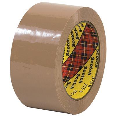 """2"""" x 55 yds. Tan (6 Pack) 3M 375 Carton Sealing Tape"""