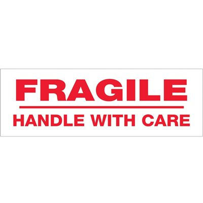 """2"""" x 55 yds. - """"Fragile Handle With Care"""" (6 Pack) Tape Logic® Pre-Printed Carton Sealing Tape"""