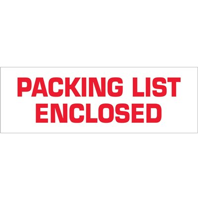 "2"" x 55 yds. - ""Packing List Enclosed"" (18 Pack) Tape Logic® Pre-Printed Carton Sealing Tape"