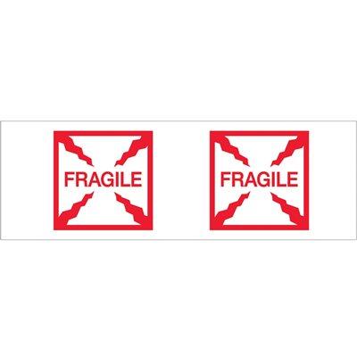 """2"""" x 55 yds. - """"Fragile (Box)"""" Tape Logic® Pre-Printed Carton Sealing Tape"""