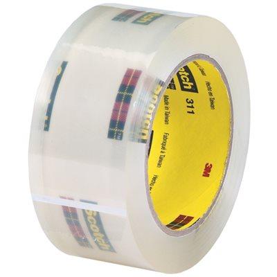 "2"" x 110 yds. Clear 3M 311 Carton Sealing Tape"