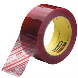 "2"" x 110 yds. Clear (6 Pack) 3M 3779 Pre-Printed Carton Sealing Tape"