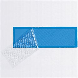 "2"" x 5 3/4"" Blue Tape Logic® Security Strips on a Roll"