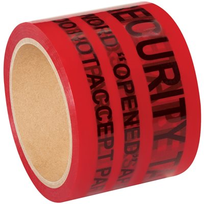 """3"""" x 60 yds. Red Tape Logic® Secure Tape"""
