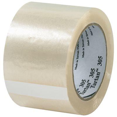 "3"" x 110 yds. Clear (6 Pack) 3M 305 Carton Sealing Tape"