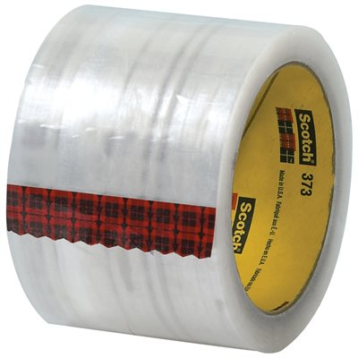 "3"" x 55 yds. Clear 3M 373 Carton Sealing Tape"