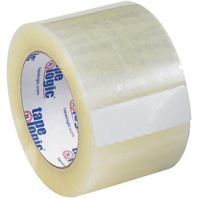 "3"" x 55 yds. Clear Tape Logic® #131 Quiet Carton Sealing Tape"