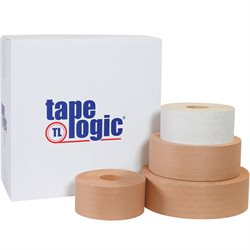 72mm x 375' White Tape Logic® #7200 Reinforced Water Activated Tape