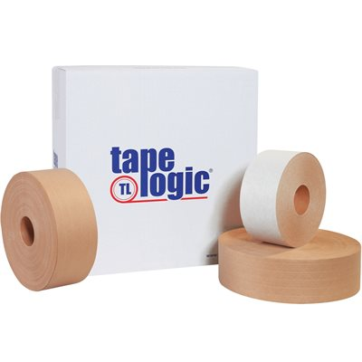 """3"""" x 450' White Tape Logic® #7500 Reinforced Water Activated Tape"""