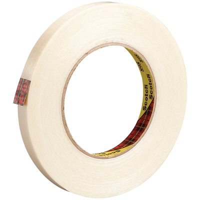 """3/8"""" x 60 yds. (12 Pack) 3M 898 Strapping Tape"""