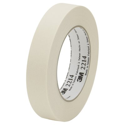 """1"""" x 60 yds. 3M 2214 Masking Tape"""