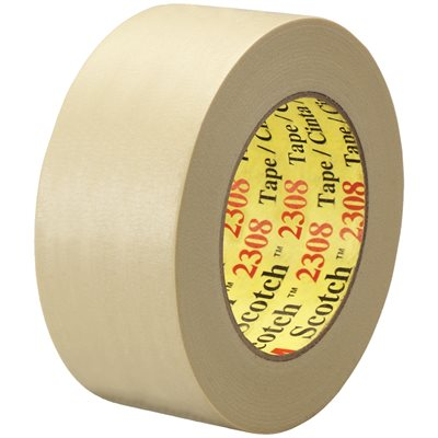 "2"" x 60 yds. (12 Pack) 3M 2308 Masking Tape"