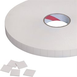 "1/2 x 1/2"" Tape Logic® 1/16"" Double Sided Foam Squares"