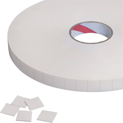 """1 x 1"""" Tape Logic® 1/32"""" Double Sided Foam Squares"""
