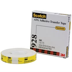 """1/2"""" x 18 yds. (6 Pack) 3M 928 Repositionable Adhesive Transfer Tape"""