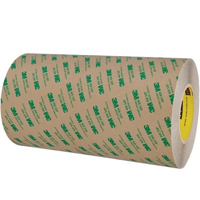 """12"""" x 60 yds. (1 Pack) 3M 468MP Adhesive Transfer Tape Hand Rolls"""
