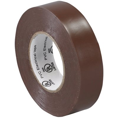 """3/4"""" x 20 yds. Brown (10 Pack) Electrical Tape"""
