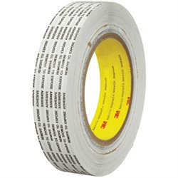 """1"""" x 1000 yds. (1 Pack) 3M 466XL Adhesive Transfer Tape Hand Rolls"""