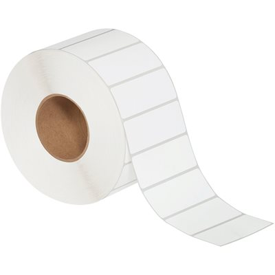 """4 x 1 1/2"""" White Thermal Transfer Labels"""