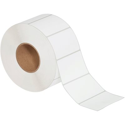 """4 x 2 1/2"""" White Thermal Transfer Labels"""