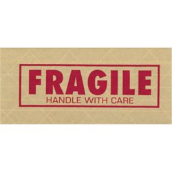 "3"" x 450' ""Fragile"" Tape Logic® #7500 Pre-Printed Reinforced Water Activated Tape"