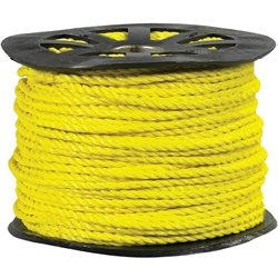 "3/4"", 7,650 lb, Yellow Twisted Polypropylene Rope"