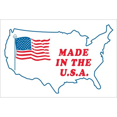 """3 x 4"""" - """"Made in the U.S.A."""" Labels"""