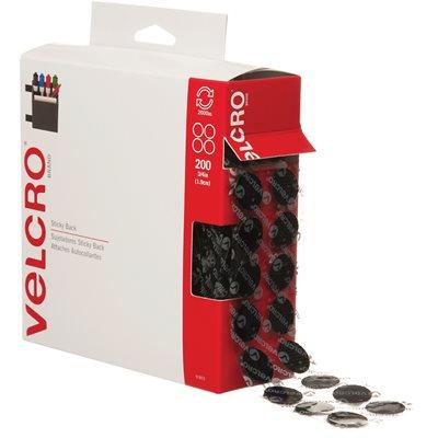 "3/4"" Dots - Black VELCRO® Brand Tape - Combo Pack"