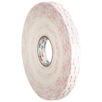 "1"" x 5 yds. White 3M 4950 VHB™ Tape"