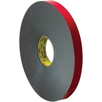 "1"" x 5 yds. Black 3M 5958FR VHB™ Tape"