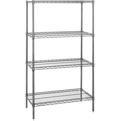 "36 x 12 x 54"" - 4 Shelf Wire Shelving Starter Unit"